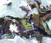Abstract Horse Racing Paintings / Abstract Horse Racing Paintings By Robert Joyner created with acrylics and mixed media on paper & canvas.
