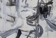 Expressive Acrylic Portraits By Robert Joyner / Abstract Portrait Paintings By Robert Joyner created with acrylics and mixed media on paper & canvas.