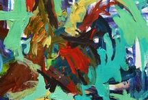 Abstract Rooster Paintings By Robert Joyner / Abstract Rooster Paintings By Robert Joyner created with acrylics and mixed media on paper & canvas.