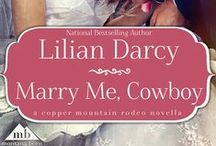 """Reader Board - """"Marry Me, Cowboy"""" by Lilian Darcy / A hot cowboy and a barrel-racer... there's so much chemistry in the air!  Cowboy Jamie MacCreadie somehow finds himself stepping up to save a damsel in distress - by marrying her!  Will this marriage of convenience bloom into something real? Readers, please pin pics you think would fit MarryMe, Cowboy!  We'd love to see what you think!"""