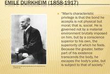 Emile Durkheim  / Sociologist