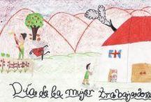 DÍA DE LA MUJER / Dibujos ganadores realizados por el alumnado del centro.