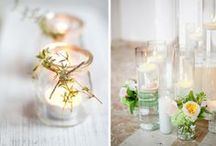 Gorgeous candles / Candles create the most amazing ambience and add a chic classic style to any centrepiece.