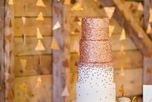 Shiny weddings - all things metallic! / Silver, golds, sparkly - this trend is gorgeous!