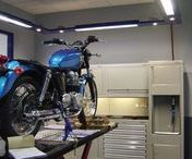 Motorbikes / Its not just cars-We design residential garages for bike lovers as well as workshop furniture for motorbike workshops.