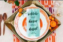 {Color Inspo} Orange Wedding / Pantone Nectarine - Orange Wedding Inspiration