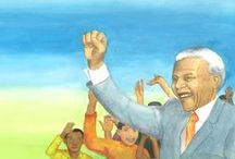 Nelson Mandela -book- / With two other woman we have made abook about Nelson Mandela, for children 12+ and older.