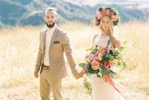 Bohemian Wedding / An eclectic mix of hippie chic, boho, nomad, and gypsy lifestyles with artistic flair. Get inspired with carefree, free-spirited bohemian wedding ideas!