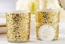 Gold Glam Inspiration / Inspiration for glamorous weddings and fabulous events with sparkle! Gold Glitter Wedding Ideas