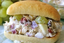Chicken Salad / The kind you serve on a sandwich or with a croissant. Not chicken mixed up in greens. / by Amy Lawson