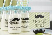 My Little Man Party / Ideas for a Little Man Baby Shower Theme | Little Man Birthday Party Ideas | #littleman #firstbirthday #kateaspen