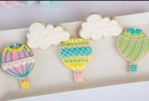 Up up & Away Party Ideas / Hot Air Balloons add the perfect touch of whimsy to your party