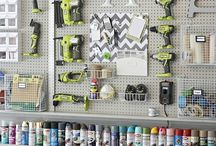Garage organizing