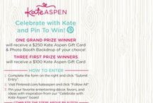 "Pin to Win: Celebrate! with Kate Aspen / We're giving away a $250 giftcard to kateaspen.com plus a customized photobooth backdrop of your choice! Enter the Celebrate with Kate Sweepstakes and start pinning your favorite entertaining decor, favors, and ideas with inspiration from our ""Celebrate with Kate Aspen"" board for a chance to win. Visit http://sweeps.piqora.com/kateaspen for more information. #celebratewithkate"
