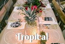 {Trending} Tropical Wedding / Palm leaves, pineapples, flamingos...All things fun and bright for a tropical wedding!