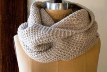 Knitting scarves, shawls - Tricot écharpes, châles