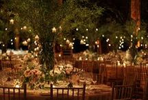 I can hear the bells. / My wedding day and night ideas. Afternoon wedding in a forest. Sunset reception at a vineyard. Rustic colored lanterns Clear colored glass dance floor Sparklers