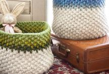 Crochet bags and baskets - Crochet sacs et paniers