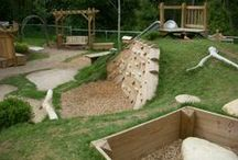 Natural Playground / Ideas for creating a playground that blends more with the surroundings, is environmentally friendly and doesn't scream urban sprawl.