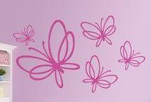 Adesivi Murali Farfalle / Farfalle in vinile. Adesivi Murali per la tua casa. Ottenere un ambiente fresco molla 365 giorni all'anno