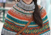 Knitting poncho, capelet