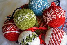 Christmas knitting and crochet
