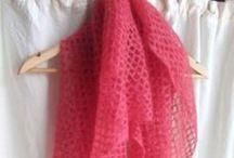 Crochet scarves, shawls, cowls - Crochet écharpes, châles, cols