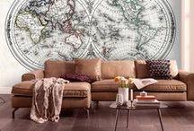 Mappe mappe del mondo - Adesivi Murali / Collezione ideale di vinili per decorare una parete nella vostra casa o in ufficio. Decorare in modo originale, con una mappa! By StickersMurali.com