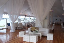 Full Hardwood Floors / Newport Tent only offers flooring specially designed to be used in outdoor areas, as it can be leveled on any surface, regardless of how uneven. While this flooring is certainly suitable for indoor use, its benefits are magnified in the outdoor setting.