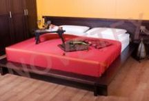 NOVETEX Wood bed frame
