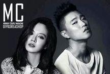 Still Shots & Magazine / Couple, Triple, Quadruple, etc. Celebrities Magazine cuts & paparazzi shots / by Korea Tourism Organization