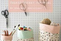 Let's Get Organised / DIY and sewing tutorials to keep us organise