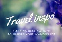 Travel Inspiration / These destinations will spike up your wanderlust. Travel inspiration for all.