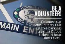 How to Volunteer / Where to sign up to help out over Labor Day Weekend at the Horse Show & Country Fairl