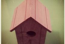 Nidos de madera para pájaros