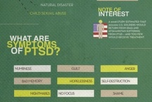 On depression and PTSD  / Infographics are a great way to tell lots of good info. We can't say that all the ones we pin are facts, but we like to put them out there for you.