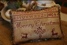 Kerst: Borduren
