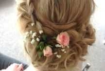 Boho wedding hair / Soft and relaxed hair with braids and twists for brides and bridesmaids