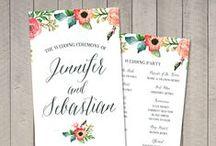 Wedding Signs | Programs | Menus