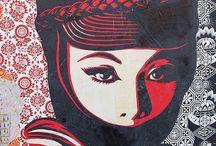 Street art / Grafitti, sculptures and stickers
