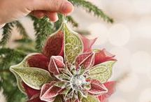 Christmas paper decorations and ornaments