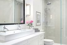 Design Darling / Powdery hues and vintage touches are enchanted by shiny metallic accents, giving these bathrooms a glamorous and feminine feel.