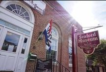 The Seaford Museum / The Seaford Museum has a fun, intimate flavor that follows an historic timeline with a local perspective. Its fiber optic lighting and unique displays and stories make it a real jewel to visitors.