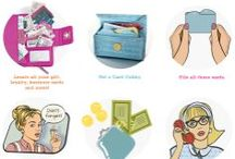 Card Cubby / The Card Cubby is an alphabetized wallet that holds approximately 40 Plastic Cards or 80 Business Cards.