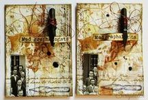 My atc board / mixed media artist trading cards