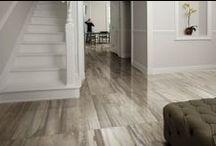 "Petrified Wood Porcelain / A large format tile series (17""x35"") utilizing digital technology."