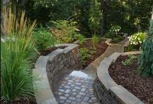Walkways / paver, stone, cement and grass walkways