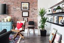 Living Room Design / A collection of living rooms featuring Century Architexture's various brick collections