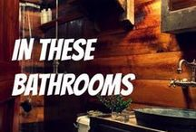 In these bathrooms / ... the fragrant story begins