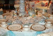 Tableware\ Table setting /  tableware , stemware, table setting, table decoration, decorative compositions